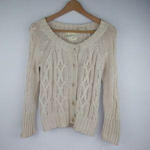 Anthropologie Kenji Knit Cotton Cardigan Sz Small